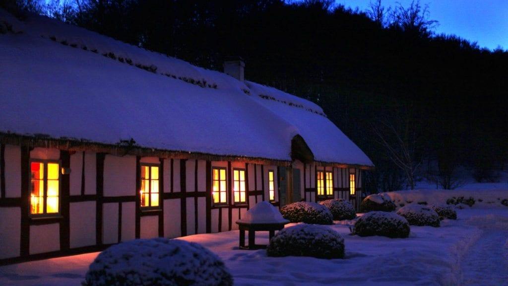 Christmas table at Drakamöllan - Österlen