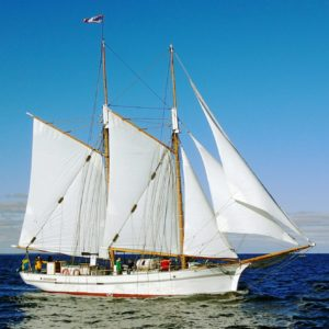 The sailing ship Klara Marie at Skillinge