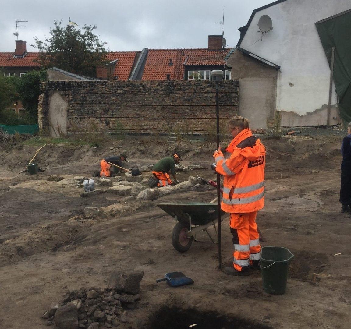 Utgrävning på Stenbergska tomten _8_2018-09-04_foto Maria Heijbel