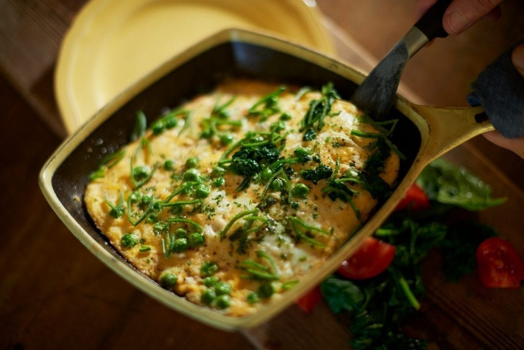 useful ida recipes - OMELET WITH GREEN PEA & PURJÖL