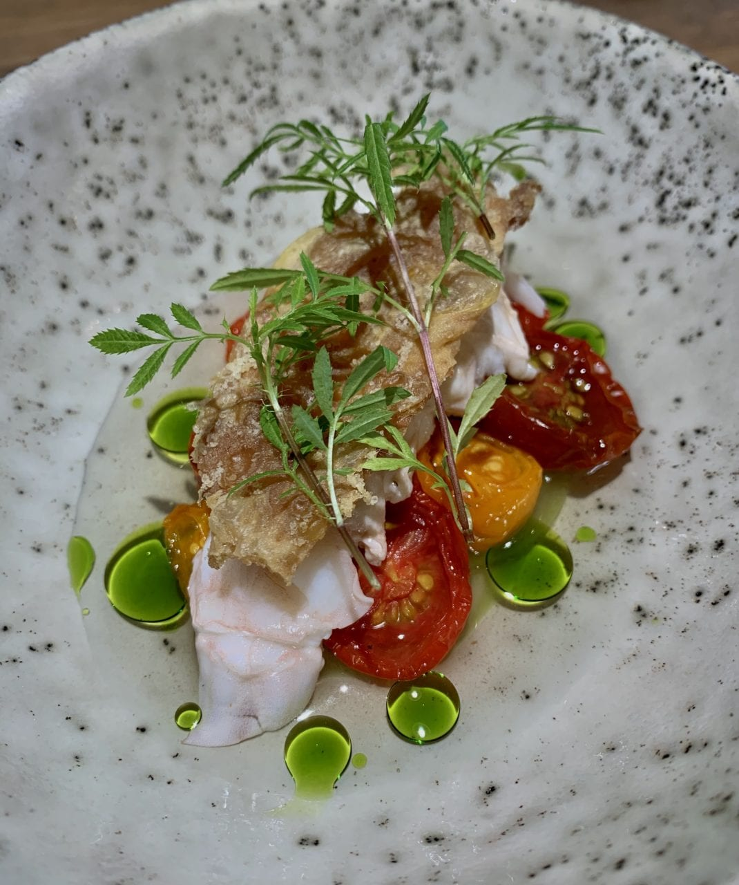 Tomatoes from Orelund with freshly cooked lobster