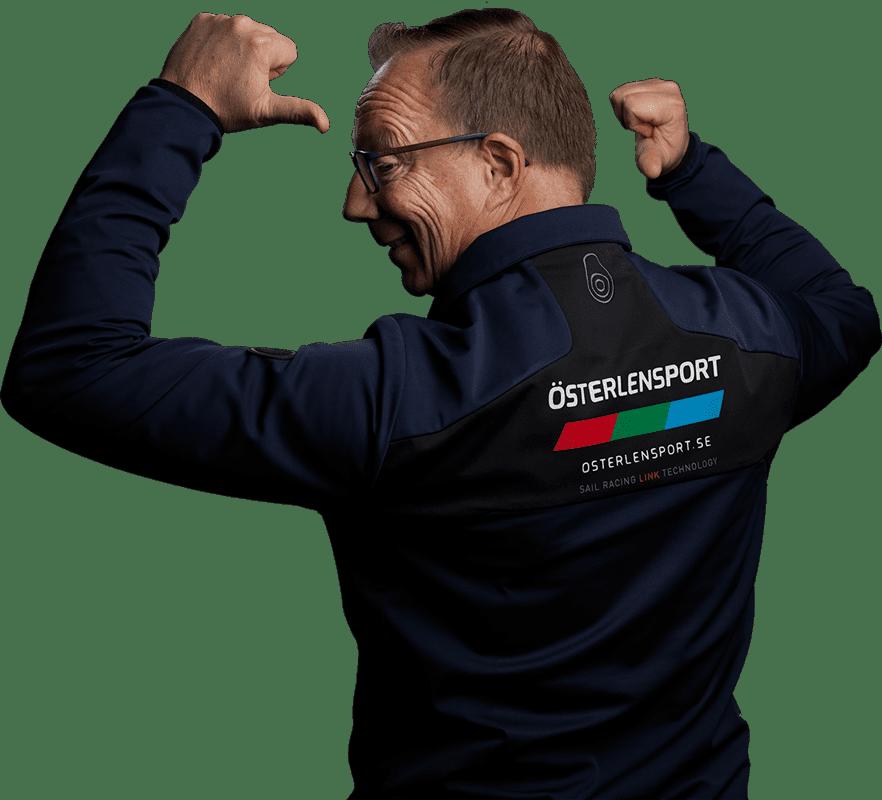 Joachim Orrenius waves happily