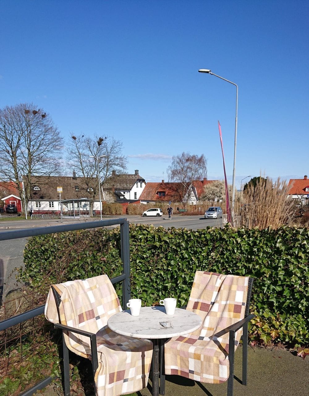 Enjoy a good coffee in the spring sun?!?