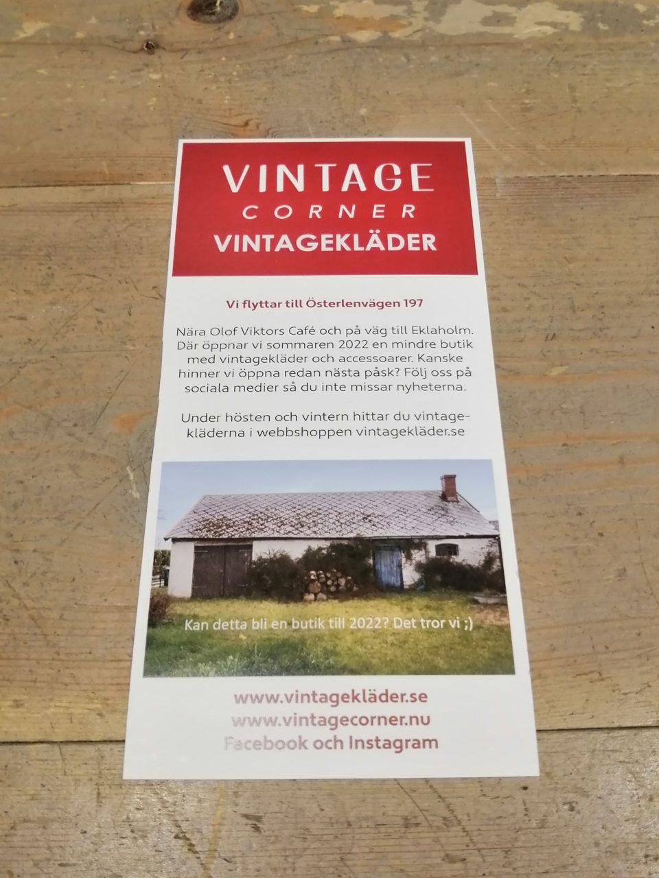 Vintage Corner flyttar till Ingelstorp
