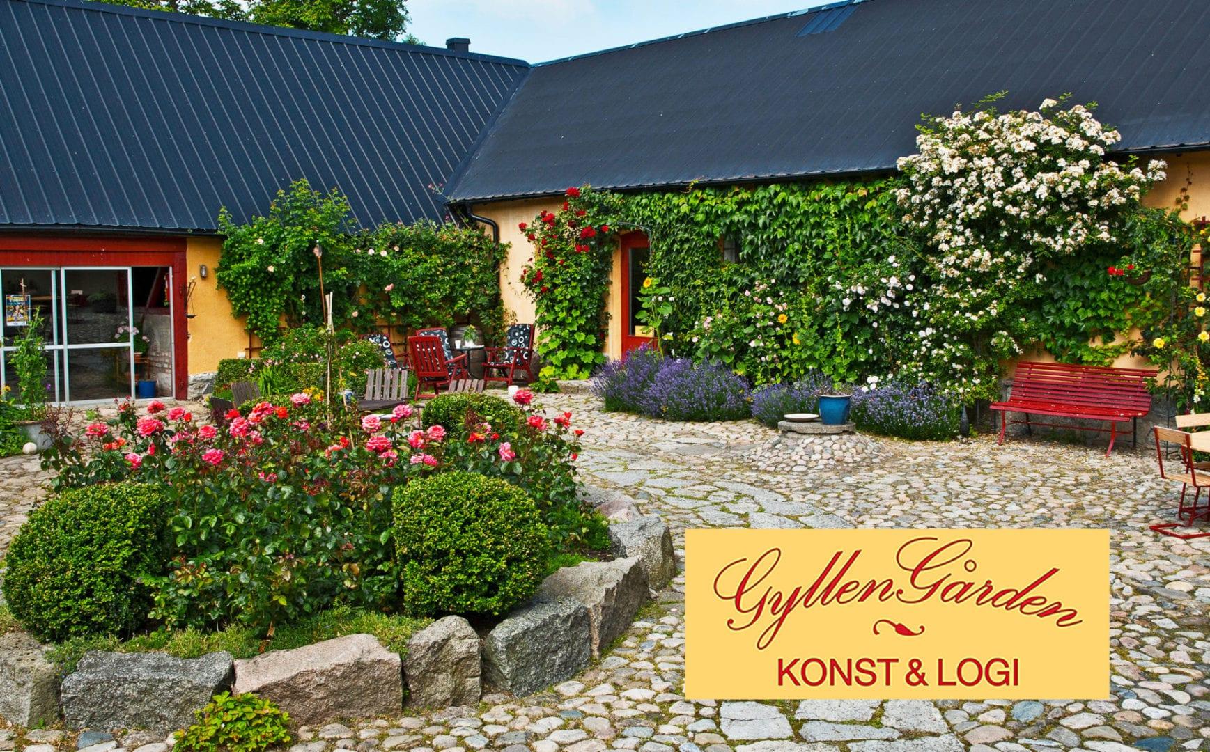 Gyllengården with log