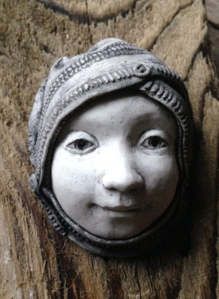 Sculpture in stone stoneware