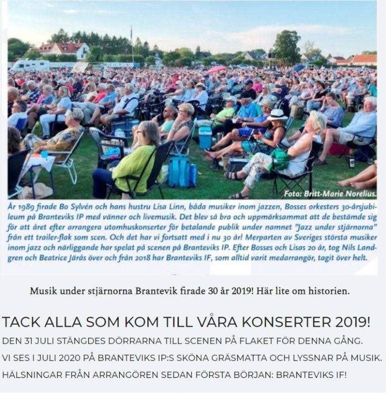 Thanks to 2019's concert audience, sponsors and volunteers