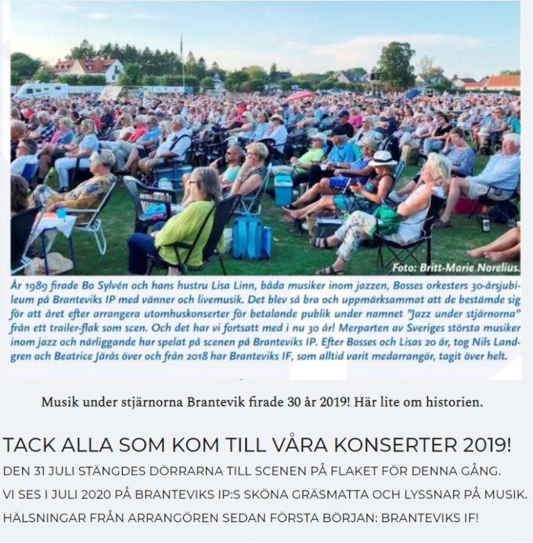 Tack till 2019 års konsertpublik, sponsorer och volontärer