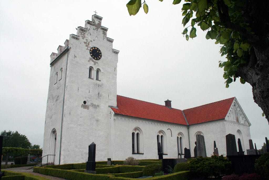 Gladsax church in Simrishamn's pastorate