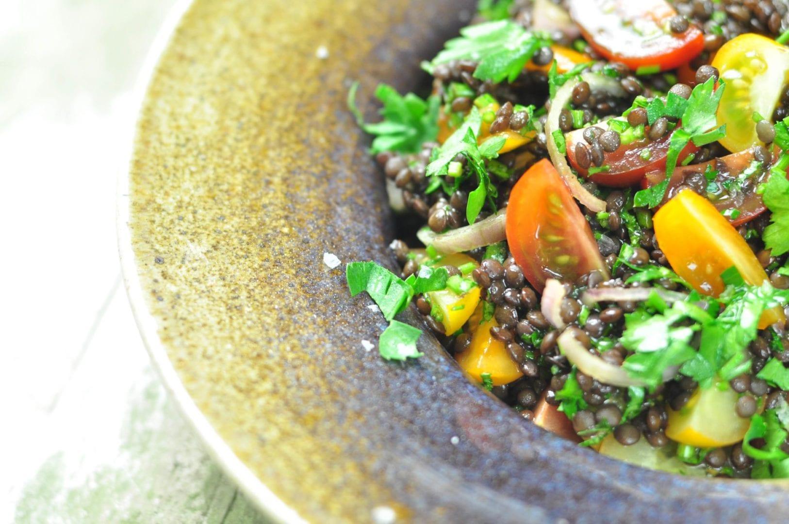 Beluga lentil salad closeup 1 österlen.se