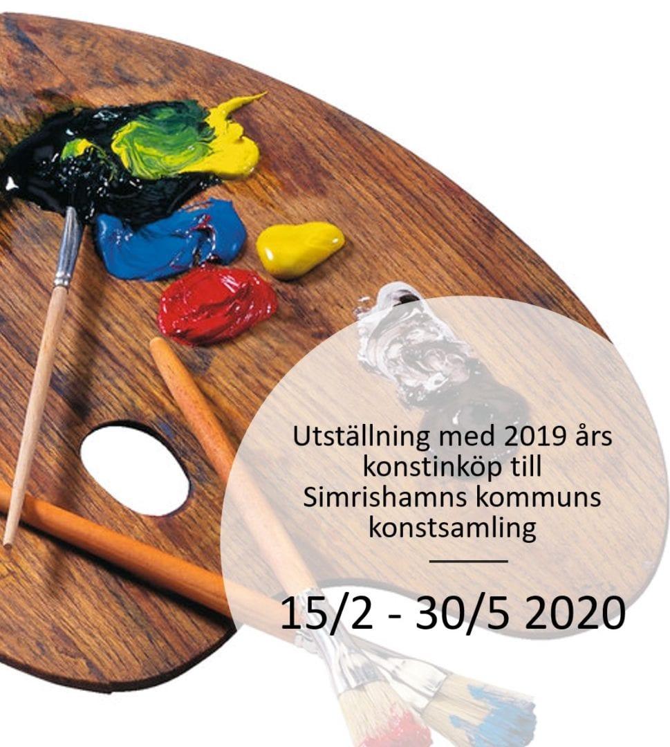 Simrishamns kommuns nyinkopta konst utstallning 2020 österlen.se