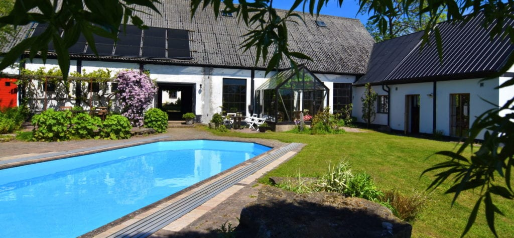 pool och orangeri - Lunkaberg Bed & Breakfast