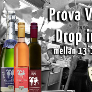 Try wine - drop in between kl. 13-17