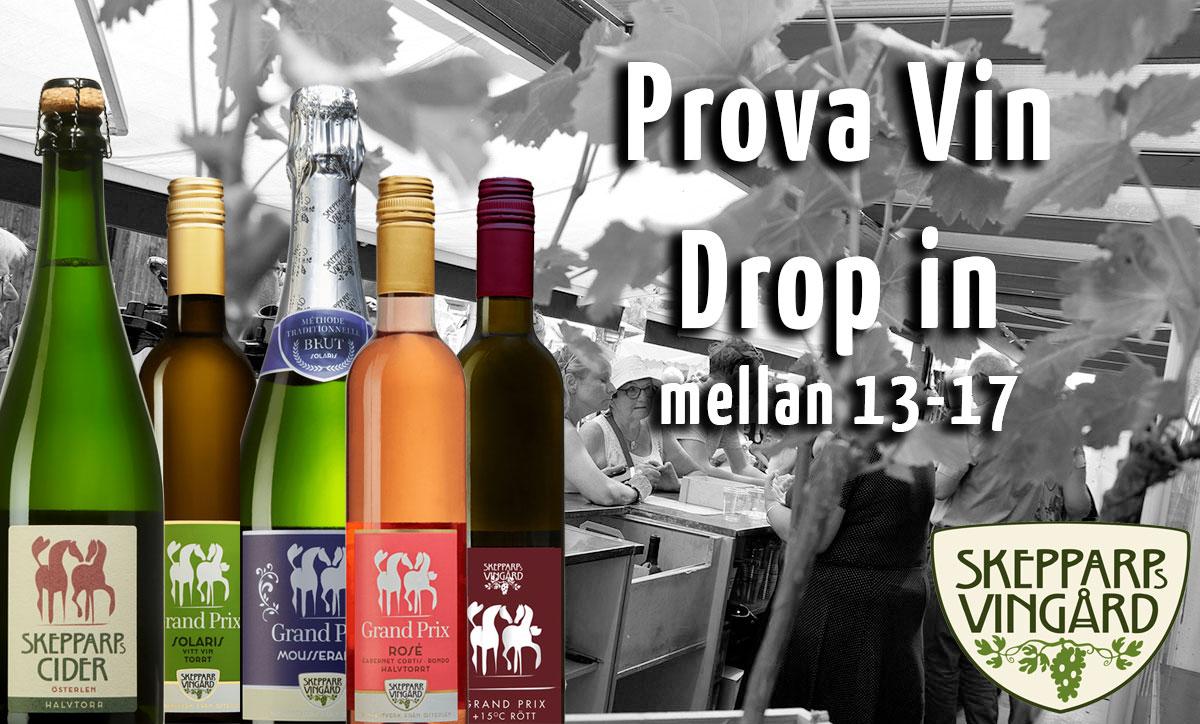 Prova vin – drop in mellan kl. 13-17