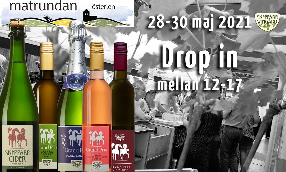 Matrundan 28-30 maj – drop in på skepparps vingård
