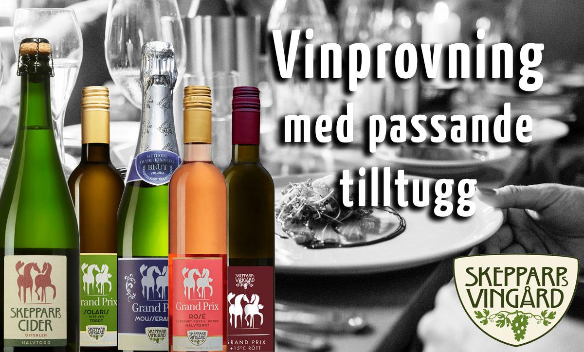 vinprovning med passande tilltugg österlen.se