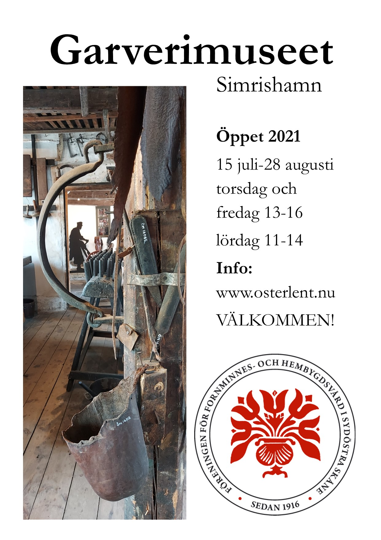 The tannery museum open in the summer
