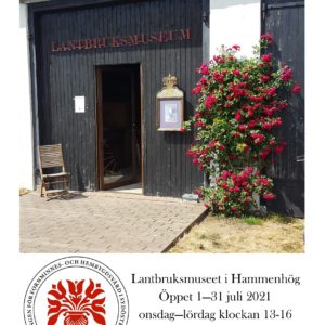 The Agricultural Museum in Hammenhög is open in the summer