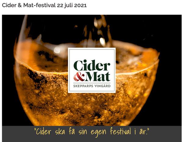 Cider & Food Festival July 22, 2021