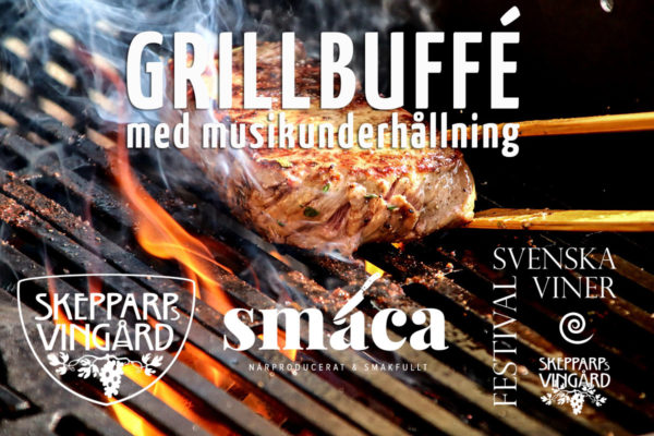 """""""Barbecue buffet with musical entertainment"""" in the evening after the wine festival"""