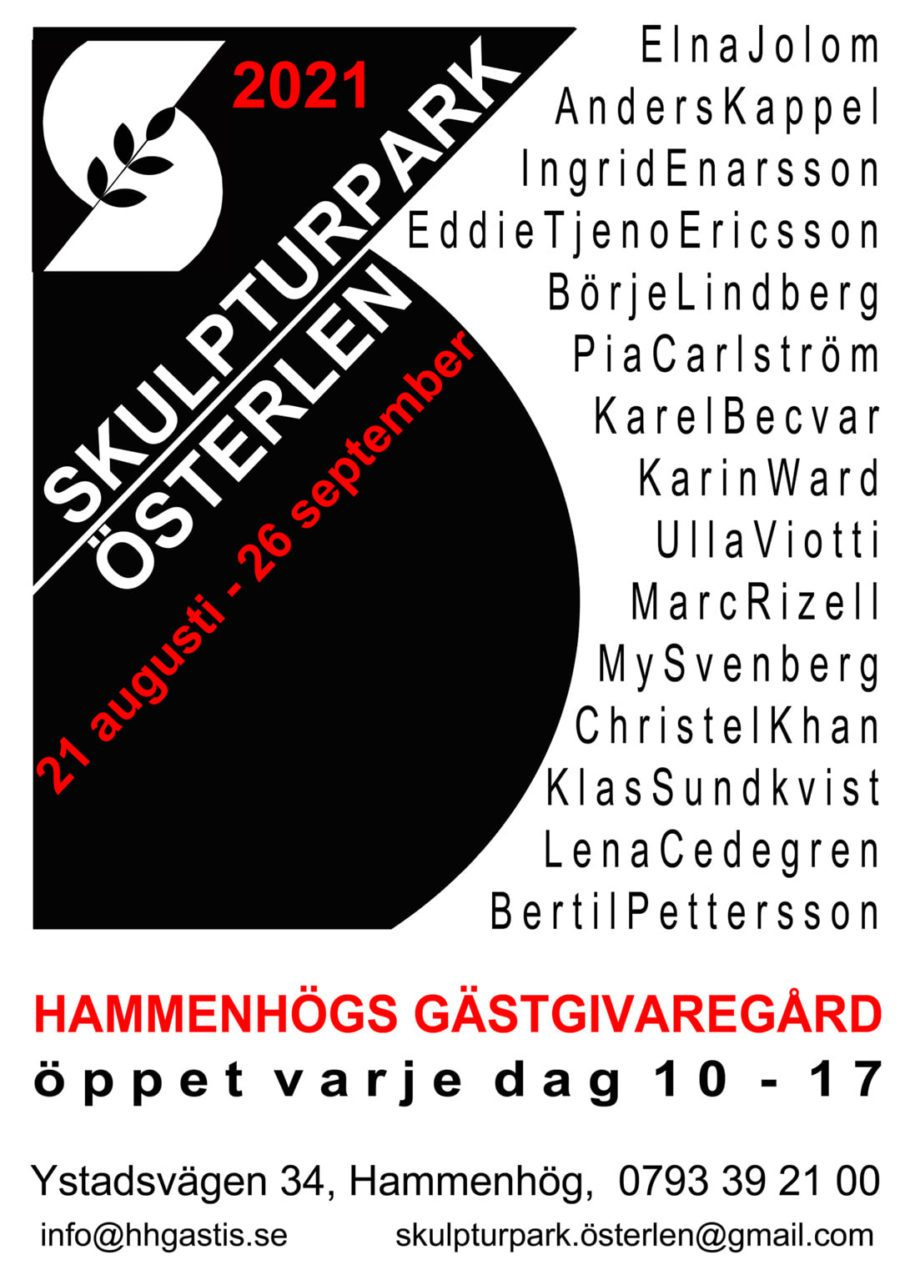 Skulpturpark Österlen årets affisch