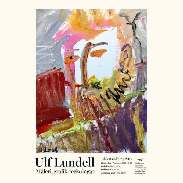 Konstrundan i påsk på Galleri Rockhead Art med Ulf Lundell